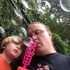 Bonding with Bubbles (mad-about- fleur) Tags: grandson simonson aidenjames