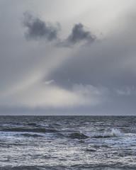 Kingsbarns Storm Clouds 005 (KeithProvenArtist) Tags: seascape storm beach rain clouds landscape coast scotland waves fife dramatic shore kingsbarns olympusomd
