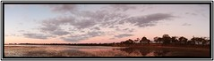 Green Lake at Sunset, Once More (florahaggis) Tags: trees sky moon pelicans canon reflections australia victoria greenlake swans horsham pc3400 westernhighway wimmera cloudsstormssunsetssunrises