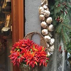 (francesca giordano 3) Tags: red food shop florence tuscany negozio garlic firenze toscana peperoncini cibo aglio delicatessen tourguide alimentari guidaturistica betuscan