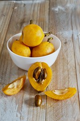 Loquat Times for BBC GoodFood (Anoop Negi) Tags: food white yellow photography photo shot good board bowl bbc presentation loquat anoop publication goodfood negi ezee123