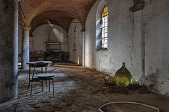Decay (Ale*66*) Tags: windows light abandoned table chair decay tavolino sedia luce finestre abbandono canon70d