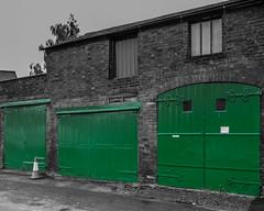 Green doors (tabulator_1) Tags: green doors wharf splash warwickshire coloursplash splashesofcolor unusualdoors