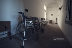 The only disability in life is a bad attitude (Rui Almeida Photography) Tags: light shadow wallpaper house abandoned wall architecture vintage dark hope ruins alone shadows darkness decay grunge wheelchair atmosphere palace retro creepy spooky ashes wicked urbanexploration destiny dust conceptual derelict cobwebs decaying grungy urbex urbanexplorer strangephotography doorslightframe hospitalwheelchair wheelchairold portugalurbex wwwruialmeidaphotographycom flickrcomruialmeida