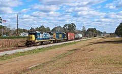 Locals and Transfer jobs on any railroad are always fun to catch because they usually have some interesting power. Here we see the daily local coming back to Waycross with CSX 5955 (B40-8) and CSX 6033 (GP40-2) for todays power (MrRailfan) Tags: ga georgia rr local ge csx emd waycross gp402 b408