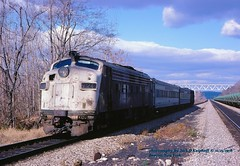 CR 5024, Beacon, NY. 11-25-1978 (jackdk) Tags: nyc railroad train pc railway locomotive passenger beacon cr conrail passengertrain emd beaconnewyork fl9 penncentral emdfl9