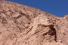Tribal Remain (Alison Claire~) Tags: chile old travel sculpture travelling nature face america canon de landscape outdoors eos ancient san desert native outdoor head south carving carve pedro atacama traveling canoneos natives 600d canoneos600d