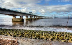Second Severn Crossing (AreKev) Tags: secondseverncrossing ailgroesfanhafren m4 motorway river severn bridge riversevern severnestuary severnbeach southgloucestershire england uk hdr photomatixpro sonycybershot sony cybershot sonydscrx100 dscrx100 tonemapped