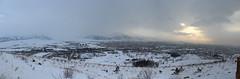 Mountains and City Panorama (laedri52) Tags: city panorama sun turkey trkiye turkiye panoramic panaroma panaromic erzurum gne ehir eastofturkey