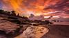 (jojococo888) Tags: sunset sky bali river temple sand mengeningbeach