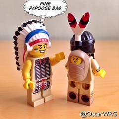 #LEGO #TribalChief #TribalWoman #Tribal #Chief #Baby #Papoose #Bag  #PapooseBag @lego_group @lego @bricksetofficial @bricknetwork @brickcentral (@OscarWRG) Tags: baby bag lego chief tribal papoose tribalwoman tribalchief papoosebag