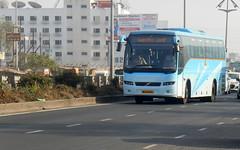 Beautiful MSRTC shivneri Volvo B7R Spotted at Wakad (gouravshinde94) Tags: msrtc shivneri bus volvo b7r pune mumbai