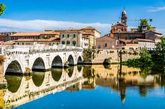 Ponte di Tiberio (Frank Lammel) Tags: italien bridge harbour urlaub rimini architektur brücke tiberius 2014 ponteditiberio