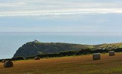 Lookout Station at Prawle Point, Cornwall (Edmund Shaw) Tags: coastguard evening coast farm bales