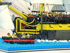 HMS Enterprize - Kedging the Ship (redmondej) Tags: ship lego pirates military navy revolutionarywar nautical tallship enterprise frigate naval warship sailingship manowar moc royalnavy ageofsail enterprize legopirates minifigscale hmsenterprise hmsenterprize classicpirates