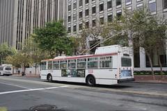 2001-2003 ETI 14TrSF #5540 (busdude) Tags: bus electric san francisco trolley railway muni municipal trolleybus skoda eti trolleycoach 14trsf