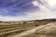 West Side Rd. Death Valley N. P. (punahou77) Tags: california road park sky mountains nature clouds landscape nationalpark desert salt roadtrip deathvalley saltflat westsideroad deathvalleynationalpark stevejordan nikond7100 punahou77