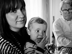 En famille (Dahrth) Tags: family famille blackandwhite baby easter lunch lumix raw noiretblanc nb littleboy bb djeuner gf1 petitgaron micro43 panasoniclumixgf1 20mmpancake gf120 microquatretiers