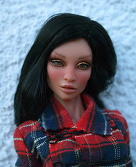 TAG GAME - DOLLS WITH FRECKLES (Belenojon) Tags: game doll ooak tag emilia bjd 16 freckles resin charo aurelia couture tartan inamorata