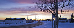 Ste-Thrse-De-Gasp (Danny VB) Tags: road houses winter sunset snow canada tree village quebec hiver coucher gaspesie