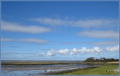 0147 Bae Foryd and clouds (Andy in relax mode) Tags: sky clouds skyscape bluesky mmm ccc mudflats cloudscape sss fff bbb forydbay 20160405 baeforyd