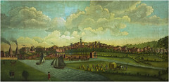 Warrington in 1772, Warrington Museum & Art Gallery (Pitheadgear) Tags: uk england art museum painting landscape landscapes warrington cheshire northwest objects topographical galleries oil geography museums exhibits oilpainting artefacts geographical warringtonmuseum nwmg