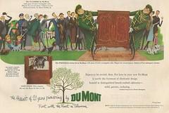 Dumont Television Ad -1952 (Howard258) Tags: nostalgia 1950s nostalgic vintageads