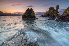Petico wick ... (Mike Ridley.) Tags: sunset seascape nature scotland waves stabbs watermotion leefilters mikeridley peticowick sonyfe1635f4 sonya7r2 sonya7rll