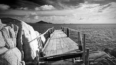 IMG_9084_edited-1BW (Lauren :o)) Tags: ocean sea blackandwhite beach monochrome clouds thailand island paradise dive diving kohtao turtleisland nangyuan desertisland diveresort nangyuanisland