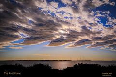 The Road Home (Odette Cavill) Tags: sunset seascape landscape australia calm wa serene goldensunset tranquil cloudformation cockburn peacefull gardenisland waveclouds dynamicclouds odettecavill hendersonview gardenislandwa