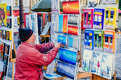 Montmartre Artist (Alessio Catelli) Tags: street travel portrait people paris france art colors sketch europa europe strada artist place drawing montmartre du colori francia viaggio tertre artista parigi