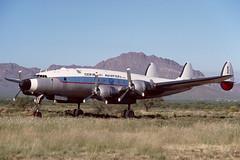 N494TW.RYN1111085copy (MarkP51) Tags: arizona film plane airplane image aircraft aviation slide kodachrome lockheed 1985 constellation ryanfield ryn propliner kryn n494tw c121a conifair markp51