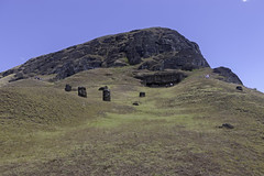 Moai at Rano Raraku (blueheronco) Tags: statues pacificocean moai easterisland quarry tuff rapanui isladepascua ranoraraku volcaniccrater rapanuinationalpark