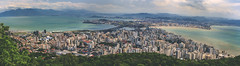 Florianopolis (Bokehneer) Tags: ocean bridge sea brazil latinamerica southamerica island cityscape turquoise panoramic florianopolis santacatarina isthmus