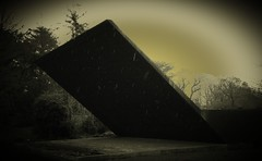 Dark side of the SLAB (morey.kenneth) Tags: light dark concrete gold foreboding heavy auditorium slab solid