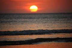 Light Ripples (leewoods106) Tags: sunset red sea orange sun yellow asia southeastasia pacificocean malaysia borneo kotakinabalu ripples sabah tanjungaru