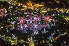 Flower Power in the Night - Explore # 1 (*Capture the Moment*) Tags: singapore singapur mbs 2015 gardensbythebay marinabaysands supertrees sg50 skyparkmbs