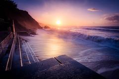 Katie's Legacy (Timothy Gilbert) Tags: beach sunrise waves wideangle ultrawide hdr millendreath gx7 cloudsstormssunsetssunrises olympus918mmf4056 stormkatie