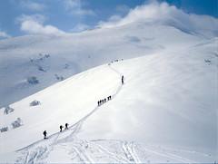 Road to Mt.Shokanbetsu (threepinner) Tags: ski mamiya spring hokkaido skiing 55mm   positive f28 hokkaidou iso50 sekor mashike m645   mountainsnaps mtshokanbetsu