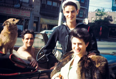 george rudy jackie - convertible color 1942 (Doctor Casino) Tags: jacqueline atlanticcity grandmom evelynjudygodelgirth