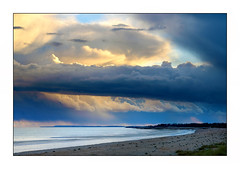 Underneath. (John Dominick) Tags: sky storm west beach sussex bay coast climping