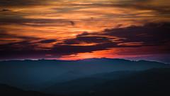 là bas ... (ElmerstarK) Tags: shape silhouette goldenhour sunset heaven outside ciel dark coucherdesoleil exterieur aveyron nature sky hill orange light lescostesgozon midipyrénées france fr