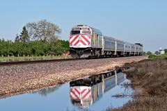 Amtrak 712 (caltrain927) Tags: california santa ca car set burlington train san control railway joaquin amtrak passenger fe northern non comet bnsf powered unit emd escalon f59phi npcu