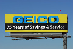 GEICO billboard - Santan Freeway Loop 202, Chandler, AZ (azbillboard) Tags: geico insurance savings service 75years arizona chandler az ahwatukkee phoenix billboard gilbert tempe gilariverindiancommunity 85226 santan santanfreeway loop202 202 101 loop101 pricefreeway i10 advertising outdooradvertising ooh outofhome billboards mesa scottsdale auto motorcycle homeowners rental renter life travel professinal kyrene mcclintock impressions 85224 85225 85286 85284 85283 85044 85048 85042 transportation road city car sign display ad advertisement advertise media geopath oaaa