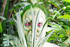 Waldtroll (akumaohz) Tags: portrait people plants white plant color green halloween nature germany deutschland person nikon colorful mask natur pflanze pflanzen makeup indoor troll grn farbe fasching karneval personen maske drinnen weis schminke d3200 waldtroll