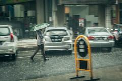 Alone. (Alleat) Tags: street city blue urban beautiful rain indonesia photography mess flickr moody cityscape artsy abc bandung glance flick braga baru feelings pasar