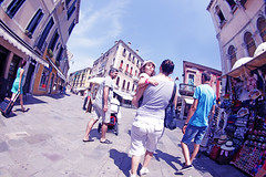 Il Futuro (kirstiecat) Tags: street family venice people italy girl architecture parents kid italia shadows child daughter strangers venise venezia thefuture fisheyelens beautifulstrangers ilfuturo