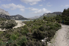 Home is Behind (animaldelmar) Tags: blue sky lake mountains clouds trekking walking landscape spain outdoor hiking path turquoise hill paisaje adventure hut backpacking shore experience brushes mountainside mallorca musketeers olivetree cuber gr221