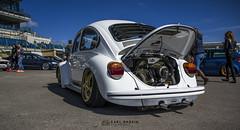 Lowered White Beetle (karlbadkin) Tags: show bus car vintage golf beetle german bmw beatle modified jetta van audi polo herbie rocco vag scirocco herby