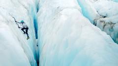 Blue Ice Climb (blue polaris) Tags: park new west ice island coast south glacier climbing zealand national fox westland crevasse
